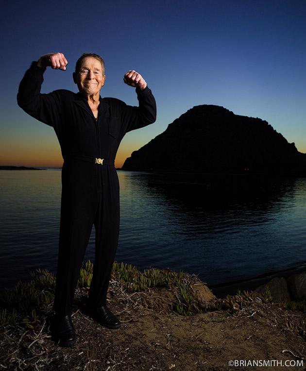 Fitness pioneer Jack La Lanne photographed in Morro Bay, California