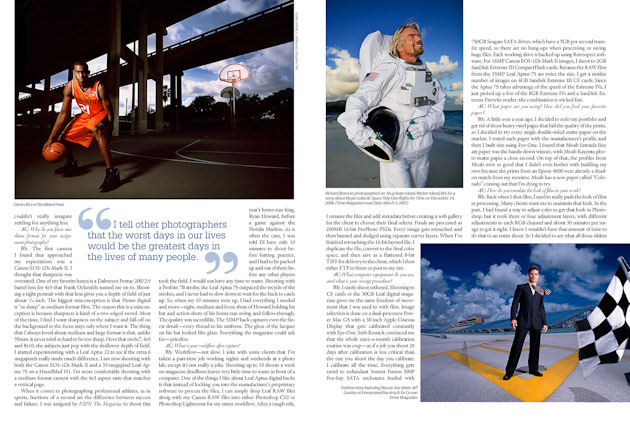 sports photography Brian Smith After Capture magazine celebrity portrait photography