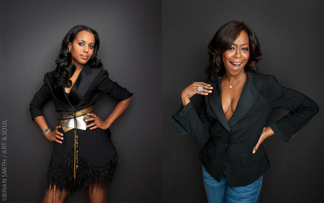 Kerry Washington and Tichina Arnold photographed for Art & Soul