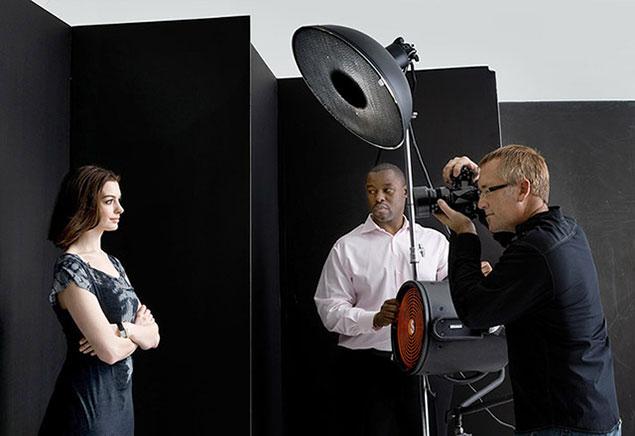 Celebrity portrait photographer Brian Smith photographs portrait of Anne Hathaway