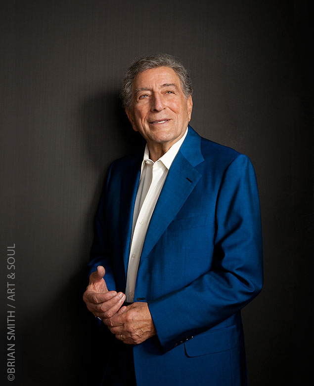 celebrity portrait photography of Singer Tony Bennett