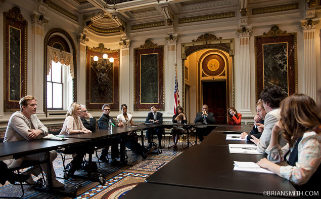 The Creative Coalition members meet with Kareem Dale, White House
