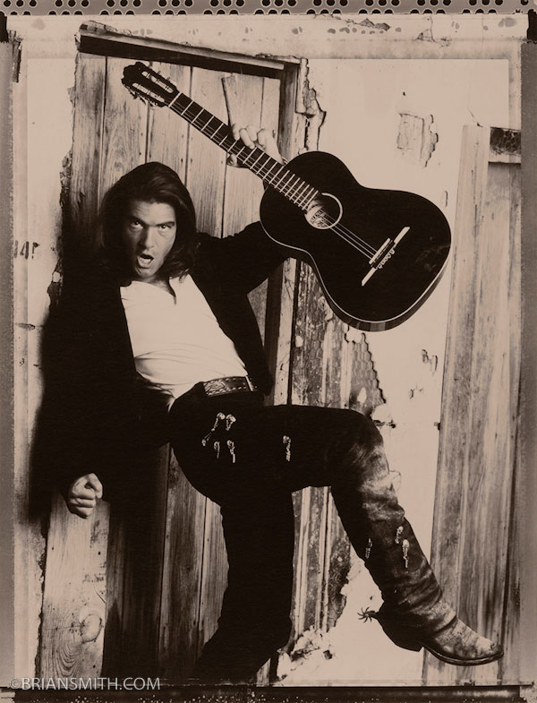 Actor Antonio Banderas photographed on the set of Desperado