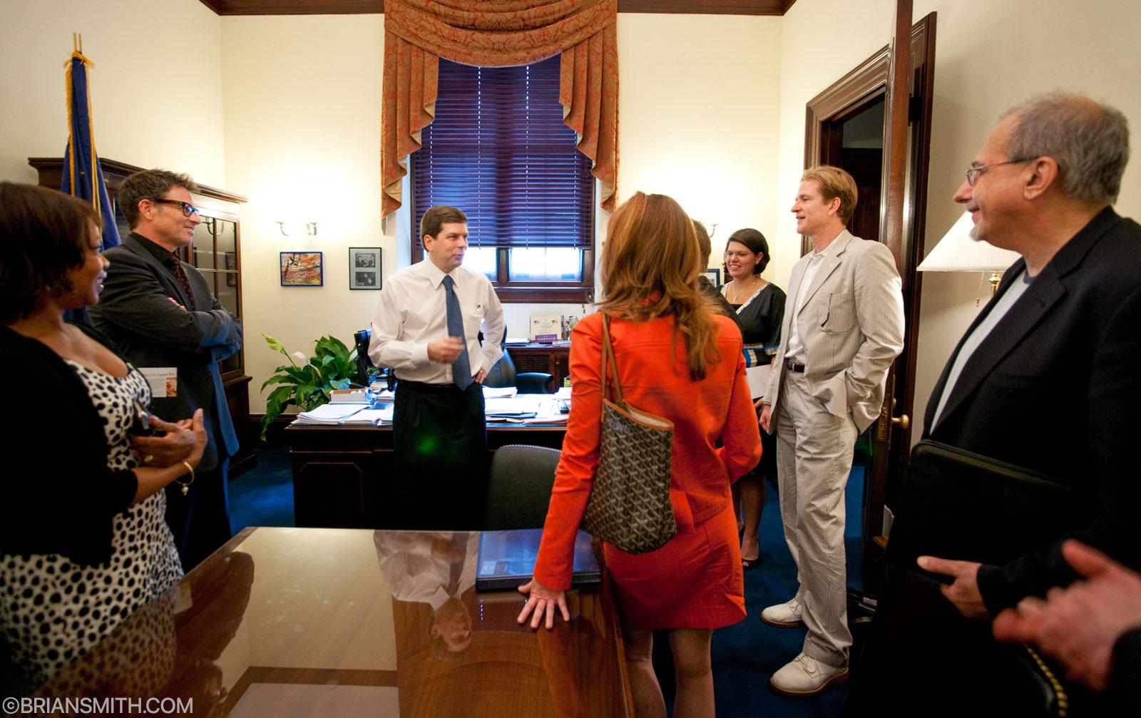 Alfre Woodard, Tim Daly, Dana Delany and Matthew Modine of The Creative Coalition meet with Senator Mark Begich