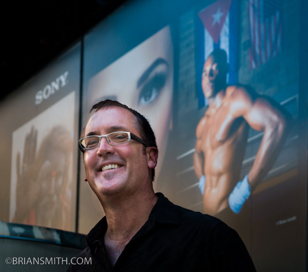 brian smith speaking at photoplus photography trade show for sony