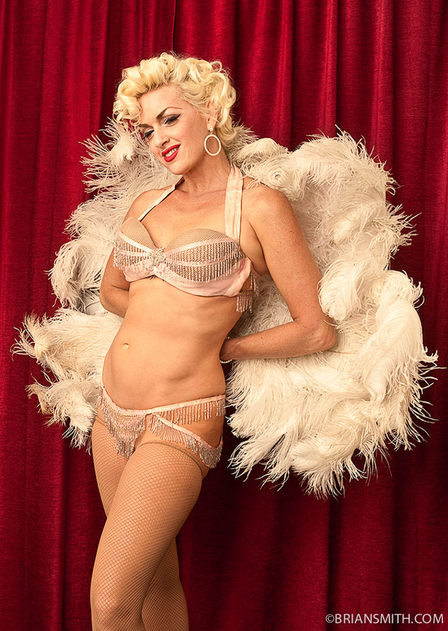 Portrait of Burlesque Legend Kitten DeVille photographed by Brian Smith