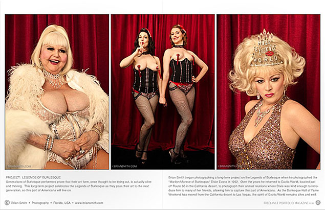 Brian Smith Burlesque Portraits
