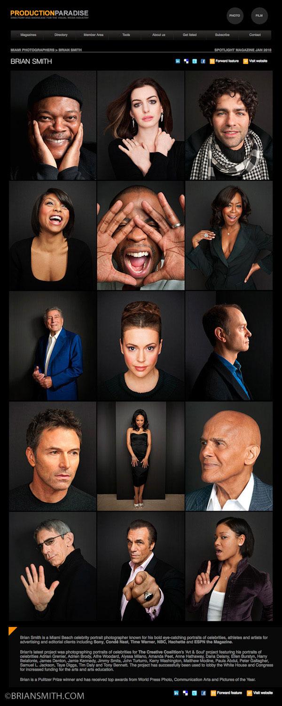 Miami photographer Brian Smith celebrity portrait photography