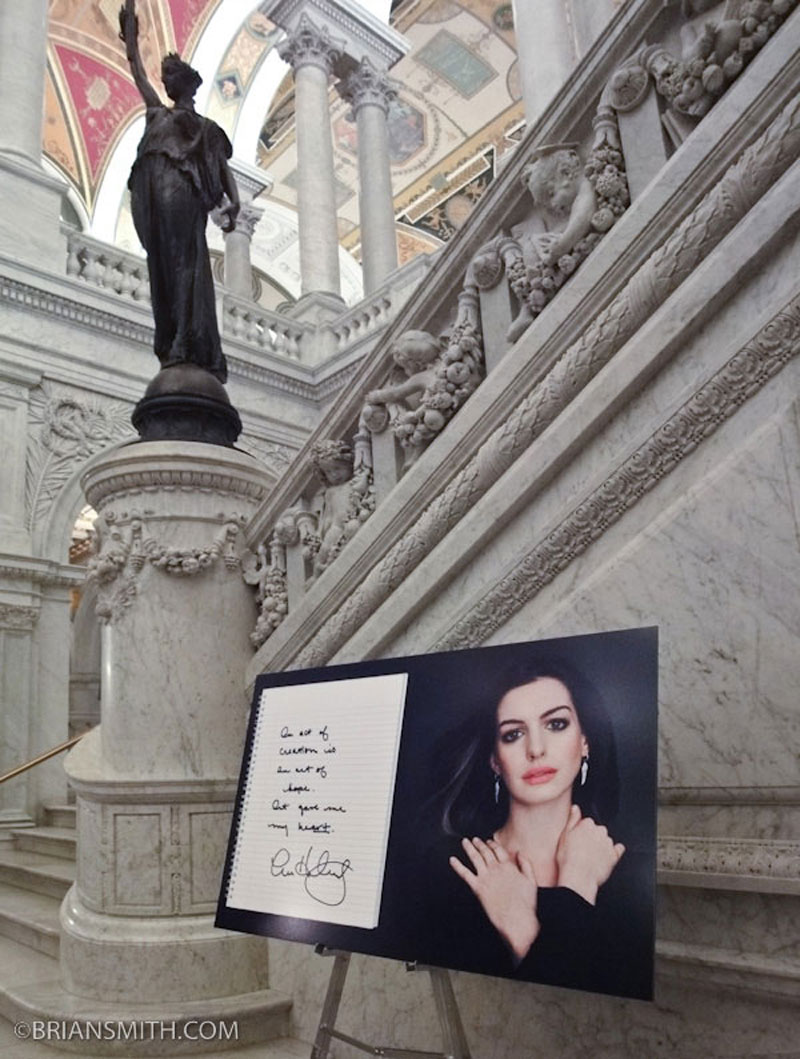 Anne Hathaway in Art and Soul Exhibit Library of Congress