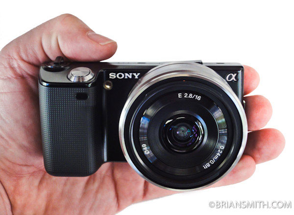 Sony NEX-5 with 18mm/2.8 lens
