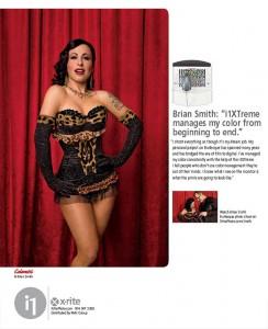 Brian Smith burlesque portrait potography