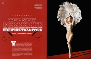 Brian Smith portraits of burlesque photography in American photo magazine