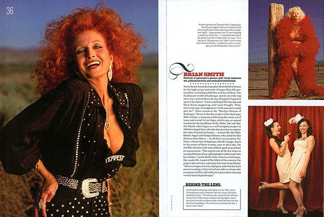 Brian Smith burlesque portrait photography in American photo magazine