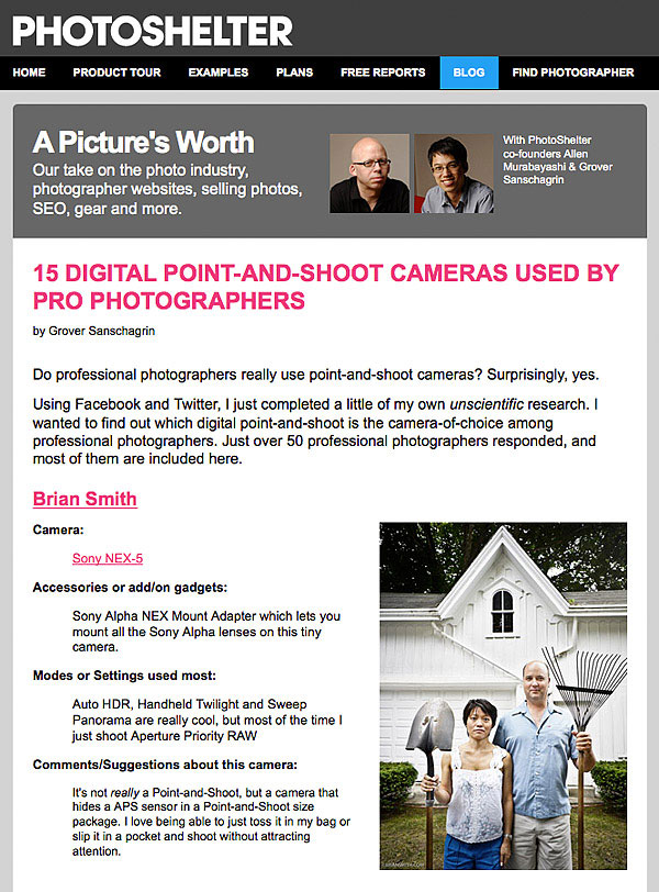 PhotoShelter Salutes the Point-and-Shoot