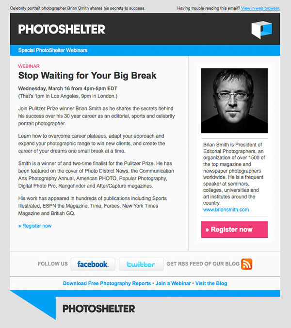 Professional photographer Brian Smith talks about his big break