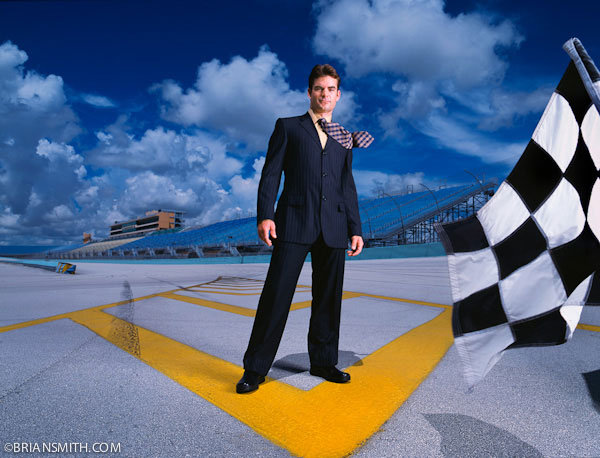 environmental portrait location photography of Jeff Gordon