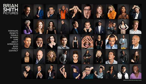 Award-winning website of Miami celebrity  portrait photographer Brian Smith