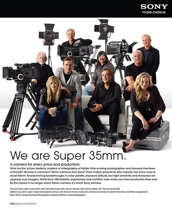 Sony photographers and cinematographers
