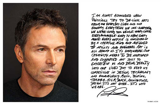 Celebrity portrait photography of Tim Daly