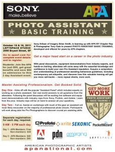 Photography Workshop Assistant Training San Francisco