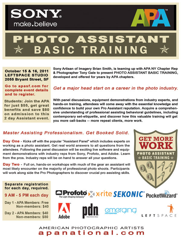 Photography Workshop Assistant Training San Francisco