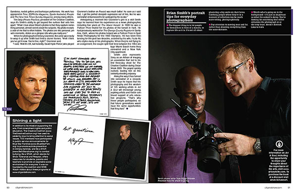 Art & Soul celebrity portrait photography in City and Shore magazine