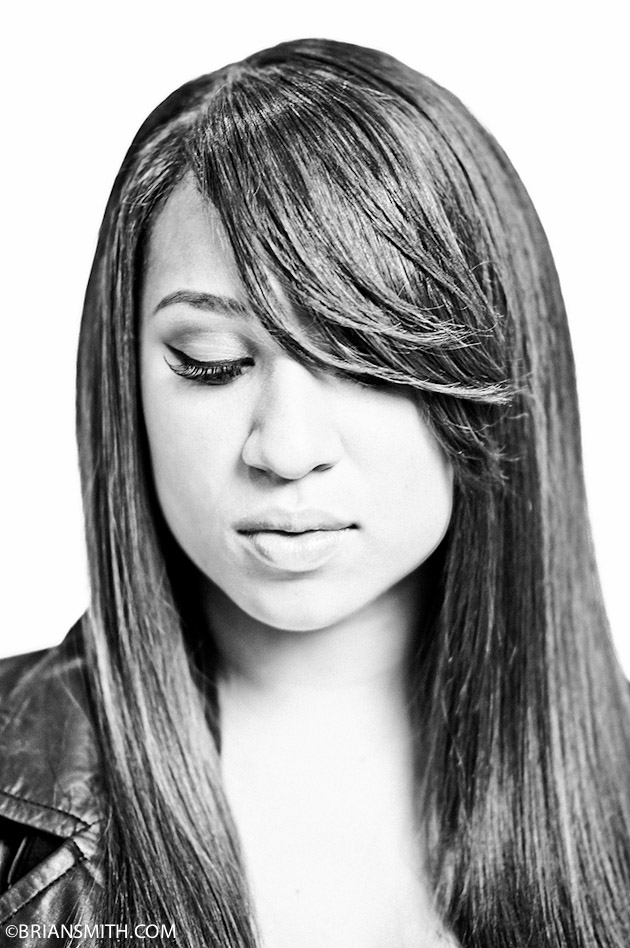 B&W Celebrity Portrait Photography of The X Factor Finalist Melanie Amaro