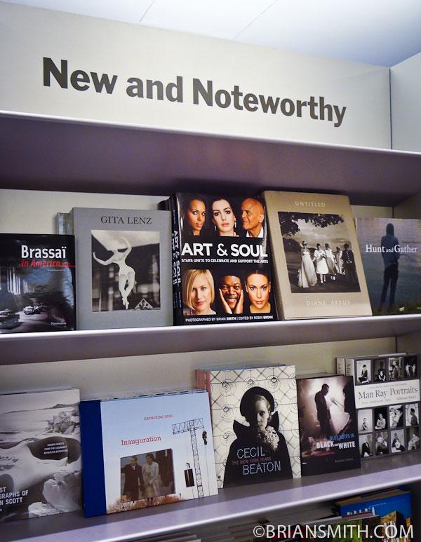 Art & Soul photo books at Museum of Modern Art