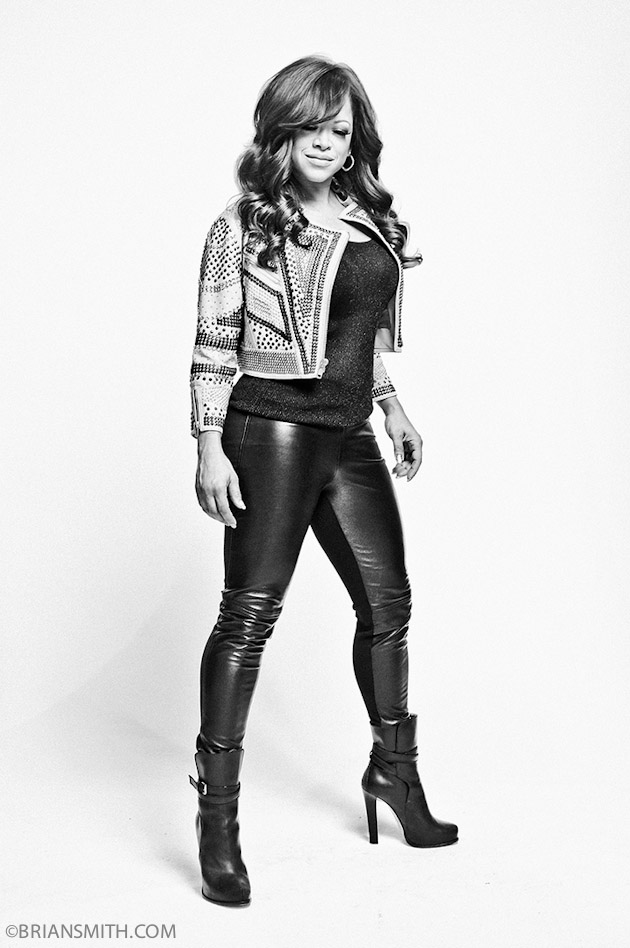 B&W Celebrity Portrait Photography of The X Factor Finalist Stacy Francis