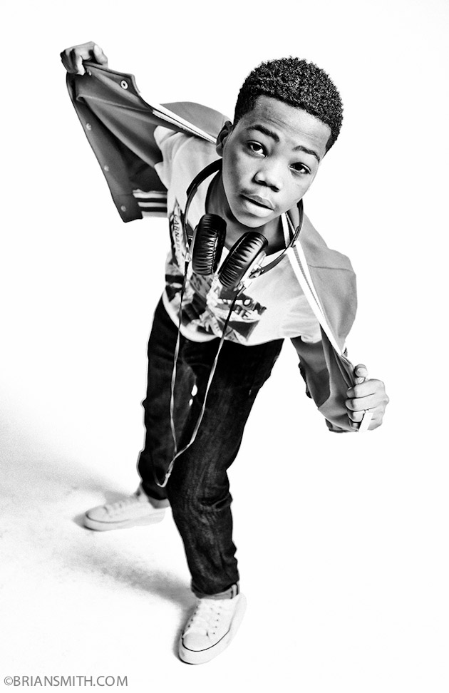 B&W Celebrity Portrait Photography of The X Factor Finalist Astro