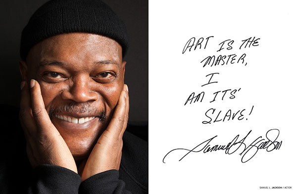 Celebrity portrait photography of Samuel Jackson