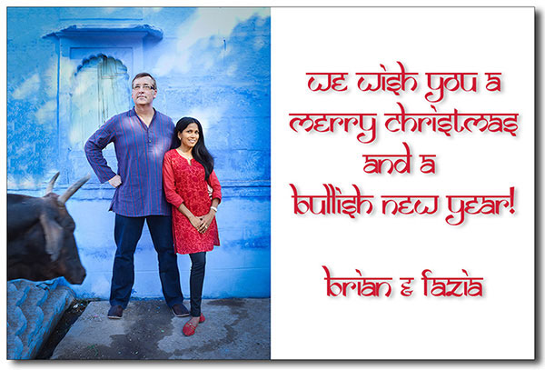 """Brian Smith and Fazia Ali Wish you a Merry Chrismas 2011"