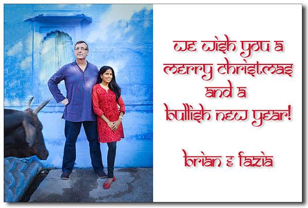 """Brian Smith and Fazia Ali Wish you a Merry Chrismas 2011"
