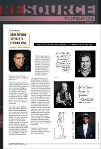 """Resource Magazine """"The Value of Personal Work'"""
