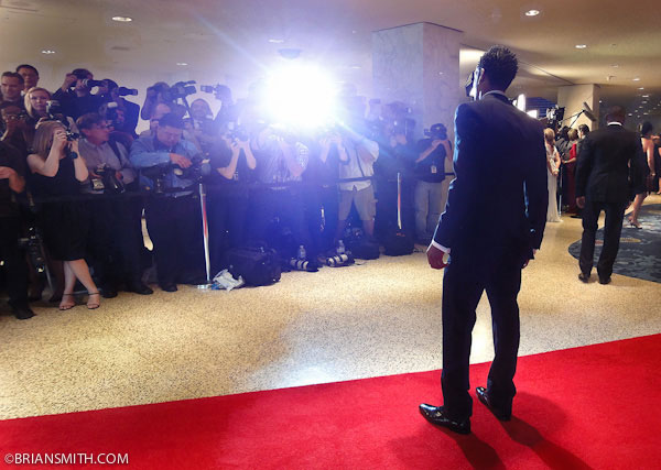 Celebrity portrait photography of Marlon Wayans on the red carpet