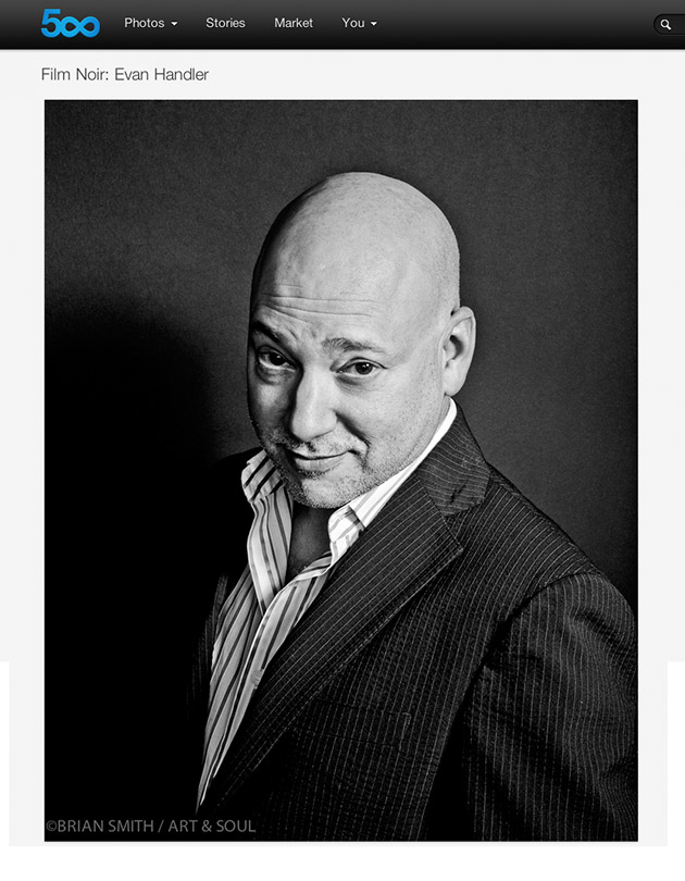 Evan Handler photographed for ART & SOUL