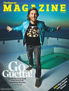 David Guetta photographed by Brian Smith in Miami for the cover of The Observer Magazine