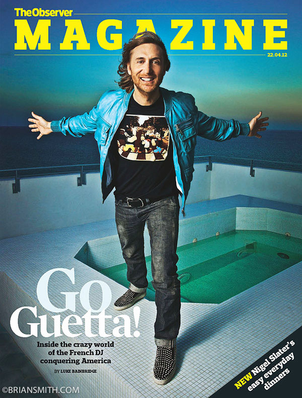 David Guetta photographed by Brian Smith in Miami for the London Observer Magazine