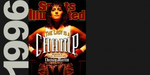 Boxer Christy Martin photographed for the cover of Sports Illustrated