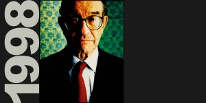 Alan Greenspan photographed for Us News & World Review