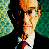 Portrait of Alan Greenspan photographed in Washington DC