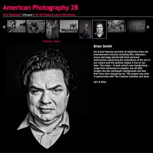 Oliver Platt by Brian Smith chosen for American Photography 28