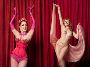 Burlesque Dancers Jo Boobs Weldon and Gal Friday