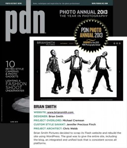 Brian Smith wins PDN Award for wesite design