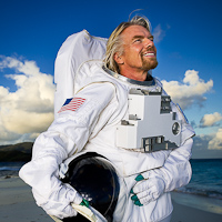 Richard Branson photographed on Necker Island, BVI