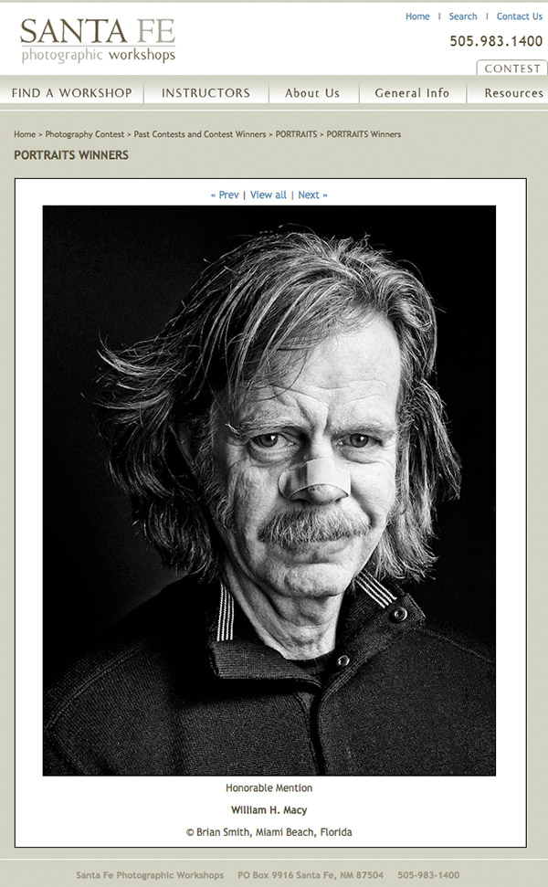 black and white portrait photography of actor William H Macy