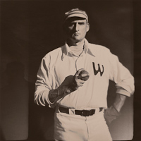 Portrait of Old Time Baseball Pitcher