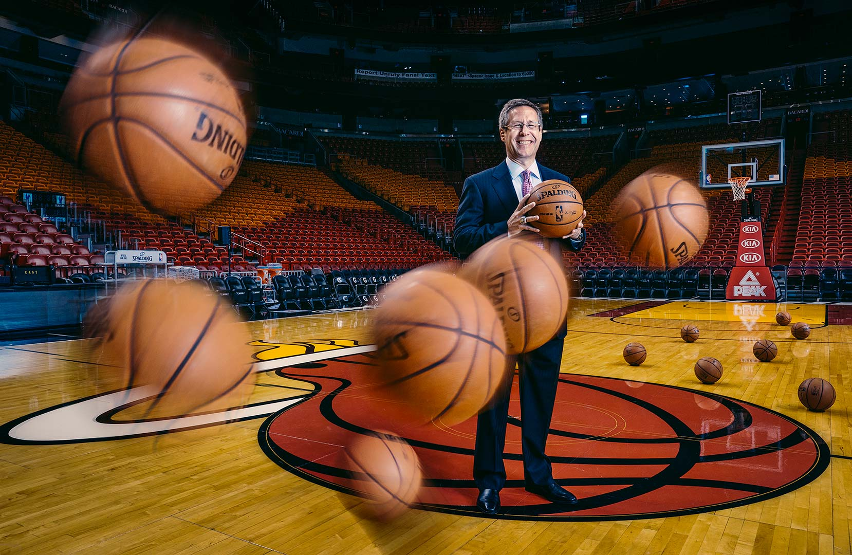 Portrait of Miami Heat president of operations Eric Woolworth