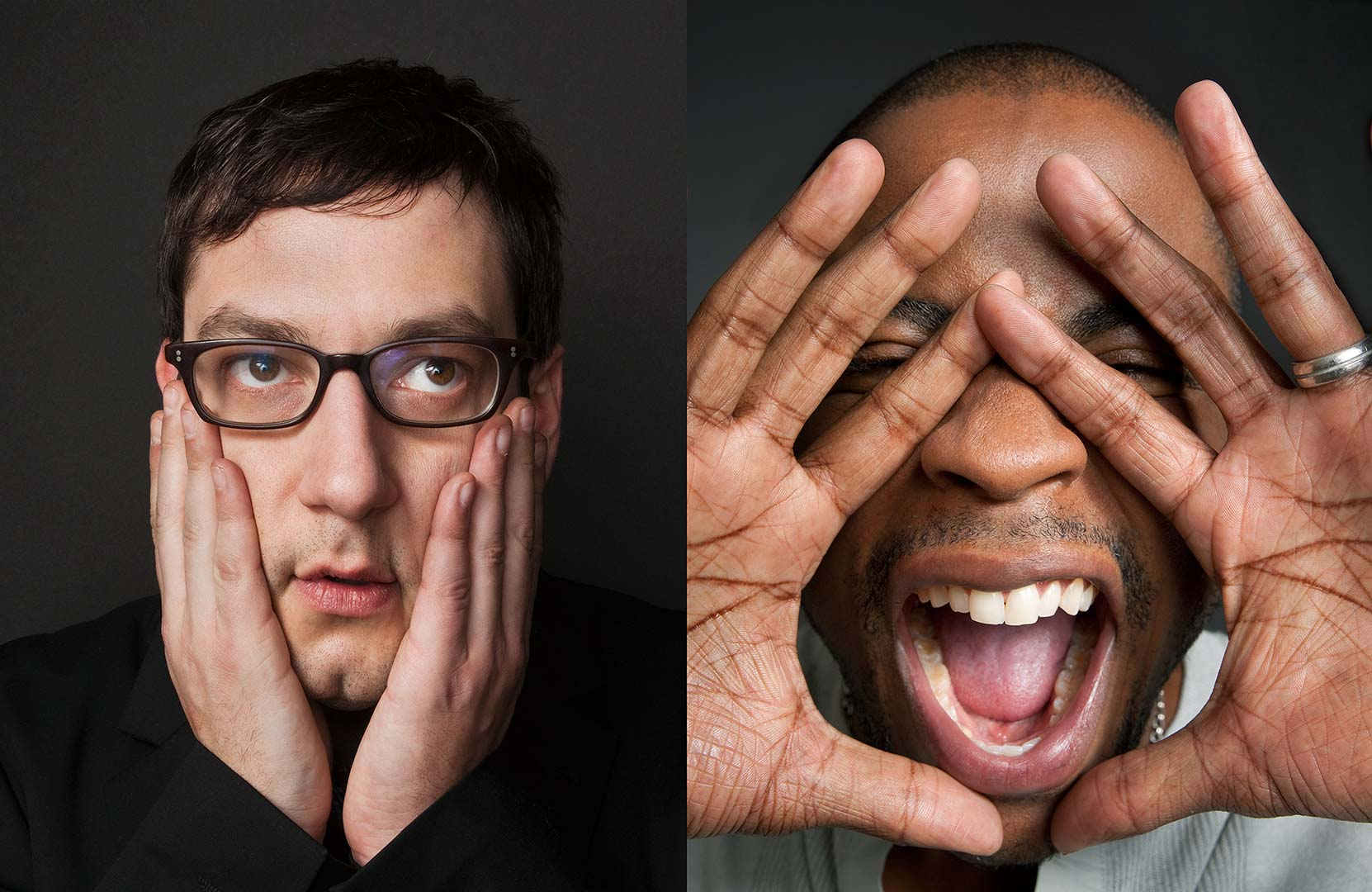 Celebrity portrait photography of Adam Busch and Dule Hill
