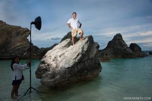 Golfer Graeme McDowell photographed in Horshoe Bay, Bermuda
